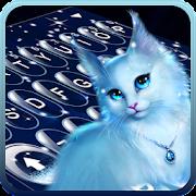 Elegant Kitty Night Keyboard Theme