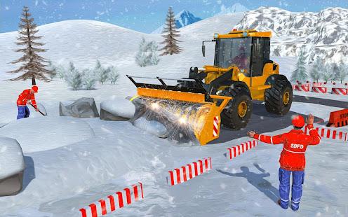 Heavy Excavator & Dozer Simulator u00b7 Snow JCB Game screenshots 6