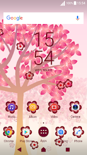 Falling Flowers Red - Live Wallpaper Screenshot