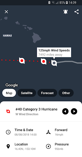 My Hurricane Tracker - Tornado Alerts & Warnings  screenshots 1