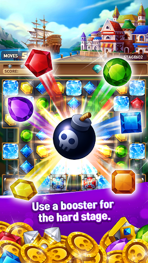 Jewels Fantasy Crush : Match 3 Puzzle apkpoly screenshots 4