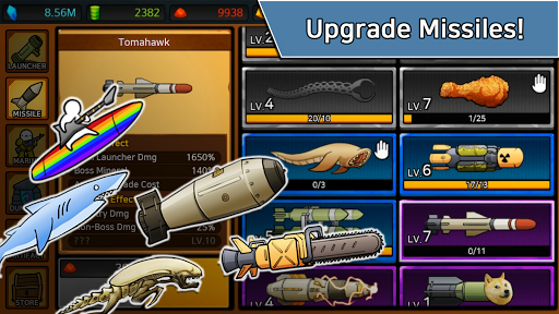 Missile Dude RPG: Tap Tap Missile 86 screenshots 20