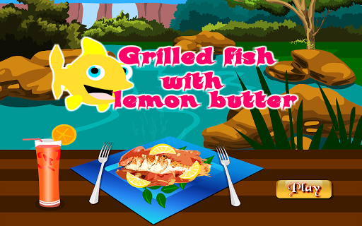 grilled fish cooking games screenshot 1