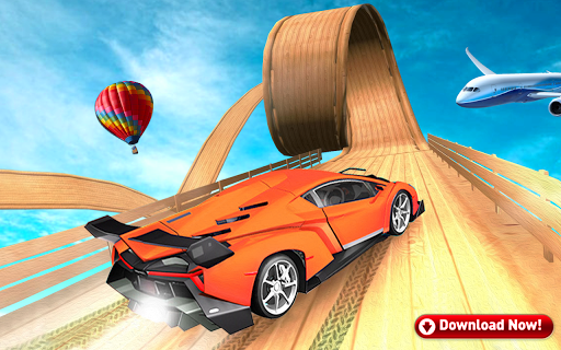 Mega Stunt Car Race Game - Free Games 2020 3.5 screenshots 3
