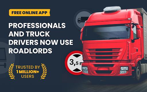 RoadLords - Free Truck GPS Navigation android2mod screenshots 1