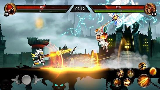Stickman Legends: Shadow War - Schermata gioco di combattimento RPG