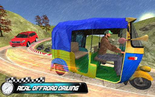 Prado vs Tuk Tuk Auto Rickshaw Racing  screenshots 4