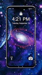 Neon Galaxy APUS Live Wallpaper