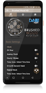 Brushed Wood HD Watch Face Widget & Live Wallpaper