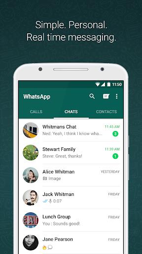WhatsApp Messenger screen 0