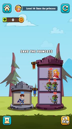 Hero Tower Wars - Math Puzzle  screenshots 6