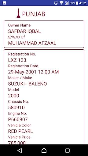 Vehicle Verification Pakistan  Screenshots 4