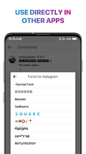 Cool Fonts for Instagram - Stylish Text Fancy Font 4.9 Screenshots 9