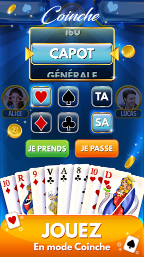 Code Triche Belote & Coinche : le Défi - Jeu en ligne gratuit apk mod screenshots 3