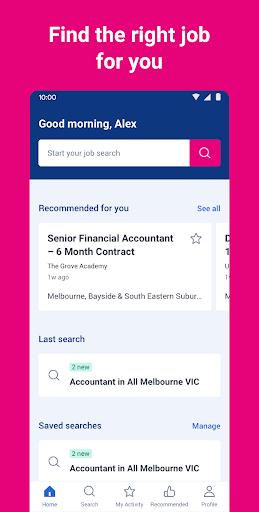 seek job search screenshot 1