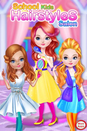 School kids Hair styles-Makeup Artist Girls Salon 1.0.18 screenshots 1