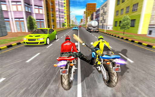 Bike Attack Race : Highway Tricky Stunt Rider android2mod screenshots 1