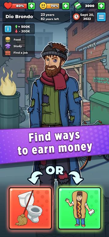 Hobo Life: Business Simulator & Money Clicker Game poster 2