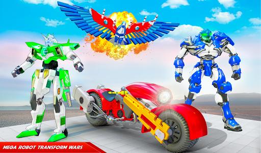 Flying Police Eagle Bike Robot Hero: Robot Games 30 Screenshots 9