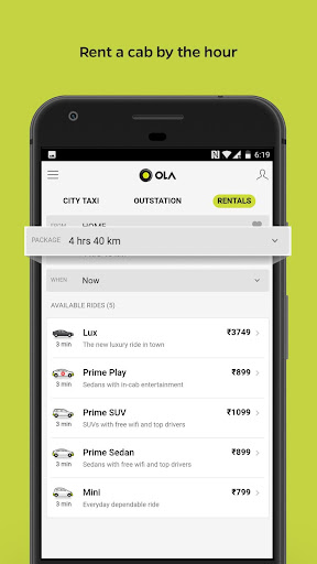 Ola Lite: Lighter Faster Ola App. Book Taxi & Cabs  Screenshots 6