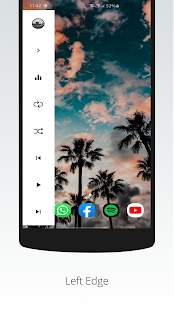Galaxy S10/S20/Note 20 Edge Music Player Screenshot