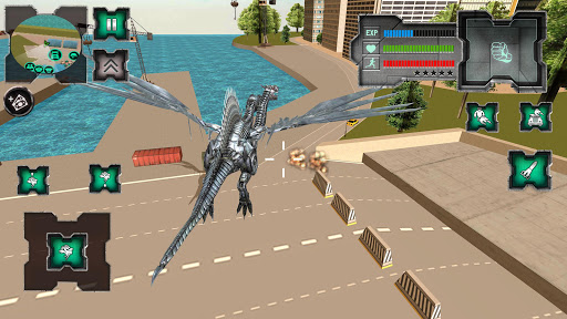 Flying Dragon Robot Simulator :Transformation War  Screenshots 3