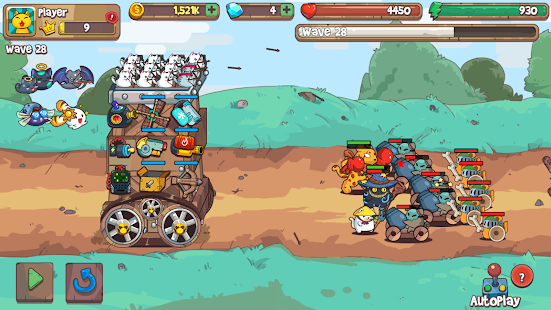 Cat'n'Robot: Idle Defense - Cute Castle TD PVP Screenshot