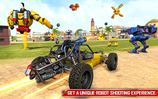 Flying Ghost Robot Car Game apkpoly screenshots 16