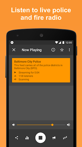 Scanner Radio - Fire and Police Scanner modavailable screenshots 1