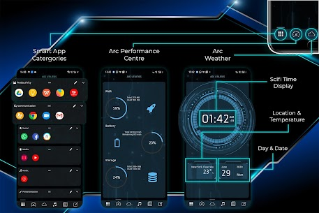 ARC Launcher Pro Apk 2021 3D Launcher (Premium Features Unlocked) 2