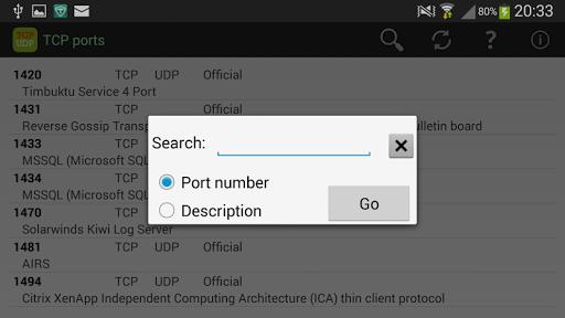 TCP Ports list screenshots 2