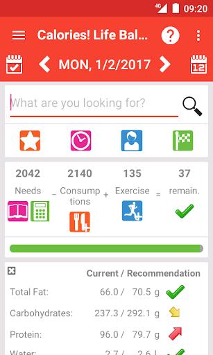 Calorie counter Life Balance screenshot 1