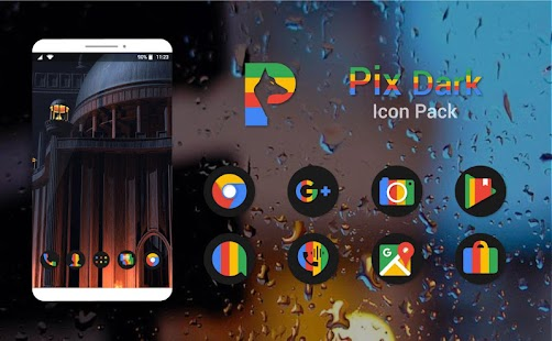Pix Dark Icon Pack Screenshot