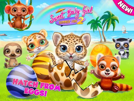 Sweet Baby Girl Summer Fun 2 - Sunny Makeover Game Apkfinish screenshots 17