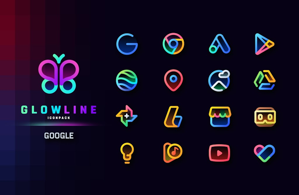 GlowLine Icon Pack  poster 3