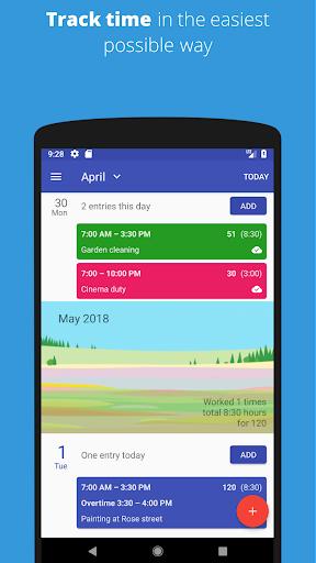 Timesheet - Track Time Hours and Salary Timecard  screenshots 1