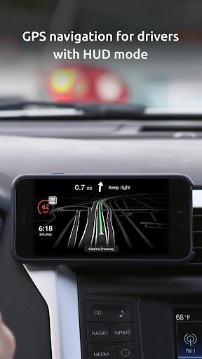 HUDWAY Go u2014 GPS Navigation & Maps with HUD  Screenshots 1
