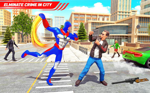 Flying Police Robot Rope Hero: Gangster Crime City 25 screenshots 10