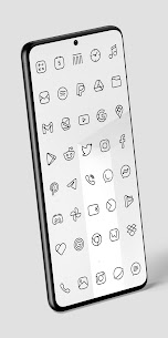 Caelus Black Icon Pack – Black Linear Icons v4.0.2 (Patched) 4