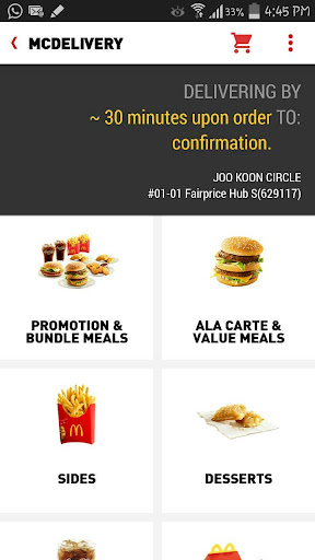 McDelivery Singapore  Screenshots 2