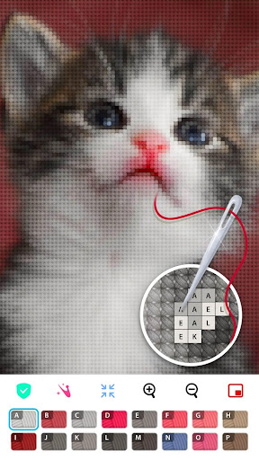 Color by Letter - Sewing game  Cross stitch 1.1.4 Screenshots 3