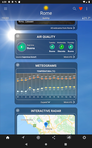 The Weather: weather forecast by iLMeteo  screenshots 10
