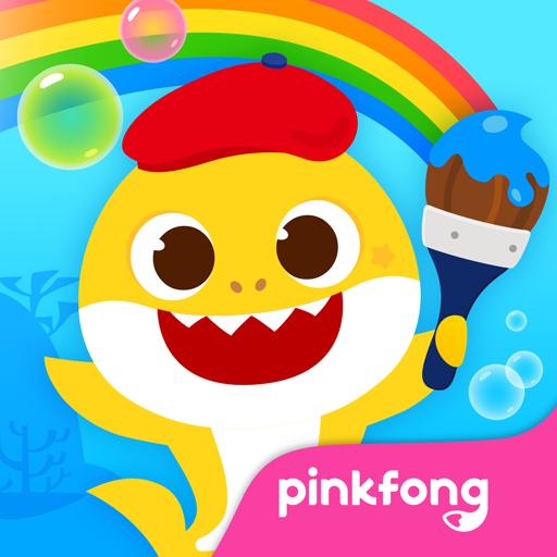 Pinkfong Bebê Tubarão Livro de Colorir