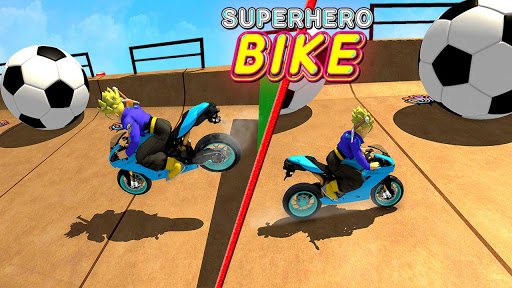 Superhero Tricky bike race (kids games)  Screenshots 5