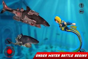 Mermaid Transforming Robot: Jet Robot Car Games