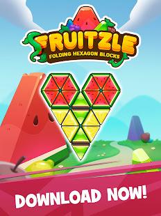Fruitzle - Folding Hexagon Blocks Puzzle