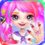 Little Princess Nail Art Salon Makeup Kids