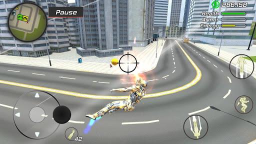 Super Crime Steel War Hero Iron Flying Mech Robot 1.2.1 Screenshots 13