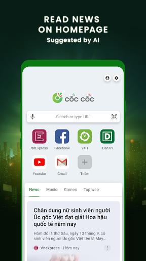 Cu1ed1c Cu1ed1c Browser - Browse web fast & secured 89.0.244 Screenshots 4