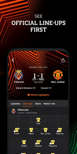 UEFA Europa Official: live football scores & news android2mod screenshots 3